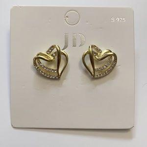 Cute Double heart earrings